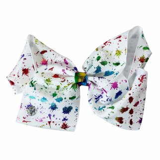 Nickelodeon JoJo Siwa Girls Large Hair Bow Rainbow Splatter