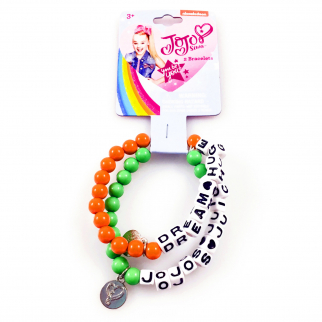 JoJo Siwa Girls Fashion Bracelet 2 Piece Set Green Orange