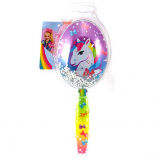 JoJo Siwa Girls Hair Brush Confetti Glitter Kids Styling Accessories - Unicorn