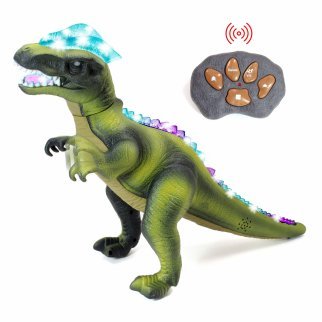 Light Up Dancing Dino RC Dinosaur Predator With Radio Control - Green
