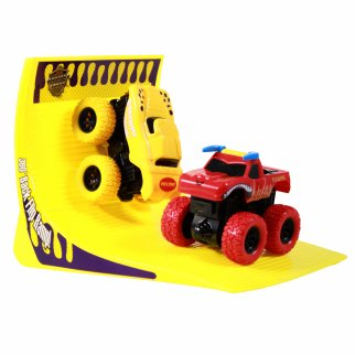 TychoTyke Kids Monster Truck Friction Powered Red Yellow