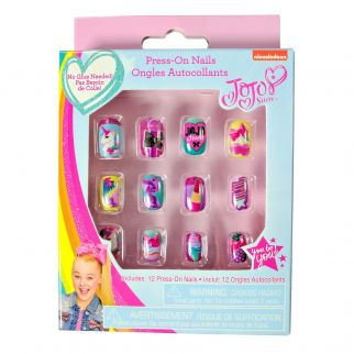 JoJo Siwa Press On Nails 12 Count Beauty Set
