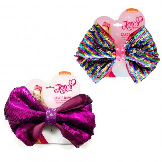 JoJo Siwa Girls Large Pony Hair Tie Bow Reversible 2pc