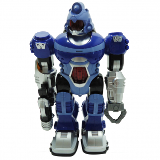 New Power Warrior Blue Robot Kids Toy