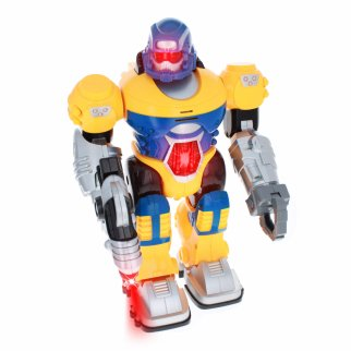 Power Warrior Light Up Super Robot Action Figure - Yellow