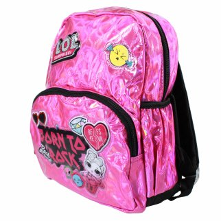 LOL Surprise 12 Inch Mini Pink Holographic Quilted Backpack