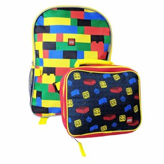 "Lego Kids 16"" Backpack Insulated Lunch Bag Set"