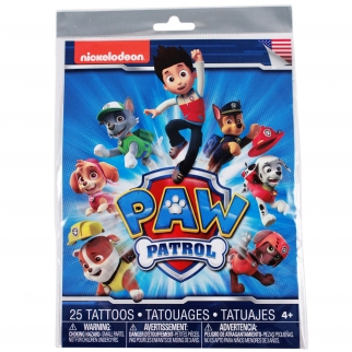 Nickelodeon Paw Patrol Temporary Tattoo Themed Brithday Party Favor Retail Packaging