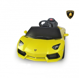 Licensed Lamborghini Aventador 6V Kids Battery Powered Ride On Car in Yellow