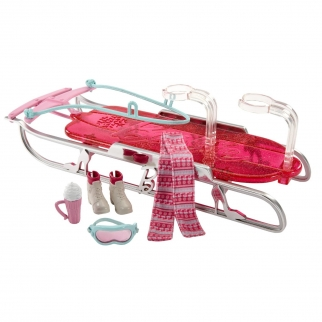Barbie Let's Go Sledding Accessory Set