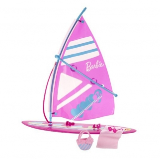 mattel barbie lets go windsurf girls pretend play doll set and towel beach bag mattel barbie swimming beach barbie girl toys skipper dolls