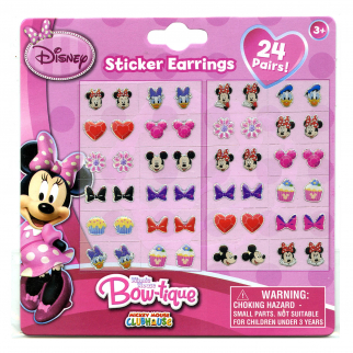 Minnie Mouse Bowtique Earring Stickers Retail 24 Pack -Retail1