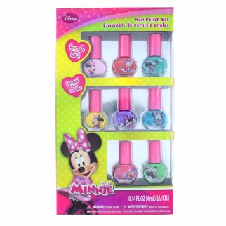 8 Piece Minnie Mouse Non-Toxic Nail Polish Kit for Girls