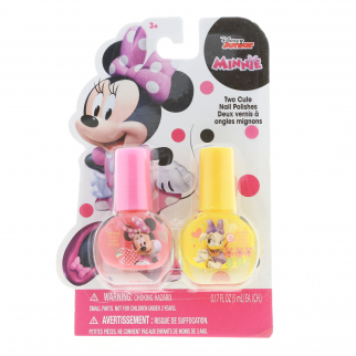 Disney Junior Minnie Mouse Girls Nail Polish Gift Set Pink and Yellow - 2 Pieces