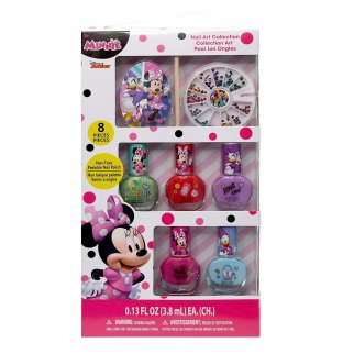 Minnie Nail Art Set in Box - Kids Disney Junior Cute Girls N
