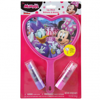 Disney Minnie Mouse Girls Mirror and Lip Stick Set