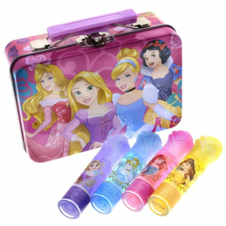 Disney Princess Fantasy Rose Capped Lip Gloss Wands Collectible Carrying Case