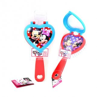 Disney Minnie Mouse Girls 2-in-1 Heart Shaped Hair Brush