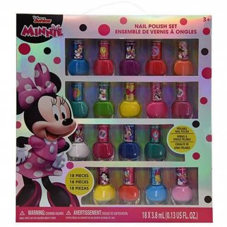 18pc Minnie Mouse Girls Nail Polish Dress-up Cosmetic Gift Set