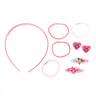 9pc Disney Minnie Mouse Hair Accessories Girls Gift Set Hair Ponies Headband