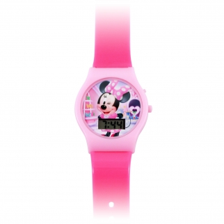 Minnie Watch Close Up Pink