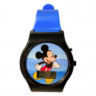 Mickey Digital LCD Wrist Watch Kids Adjustable Strap Blue