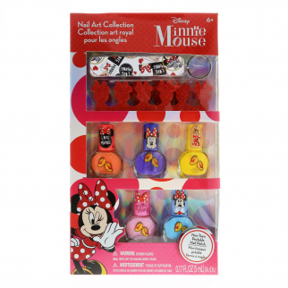 Disney Minnie Mouse Girls Nail Art Collection Gift Set 8pc