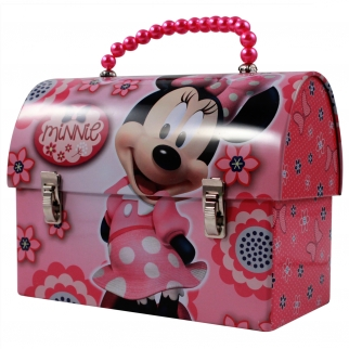 Disney Tin Purse with Pearl Handle Pink Minnie Mouse Bowtique Girls Pretend Play and Dress Up