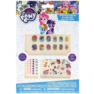 My Little Pony Friendship is Magic 65 Piece Nail Sticker and Gem Set Dress Up