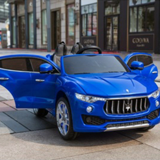 KidPlay Kids Ride On Car Maserati Levante 12V Battery Powered Vehicle - Blue
