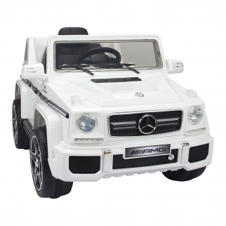 Mercedes G-63 12V Kids Ride On Car - White