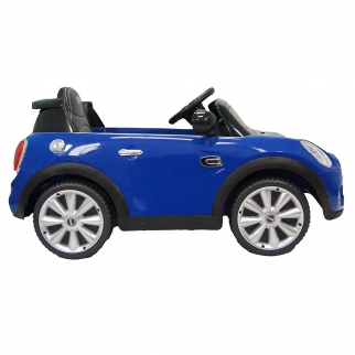 Mini Cooper Kids Ride On Car - Blue