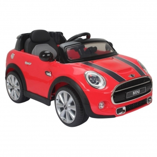 Mini Cooper Kids Ride On Car - Red