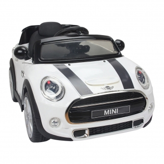Mini Cooper Kids Ride On Car - White