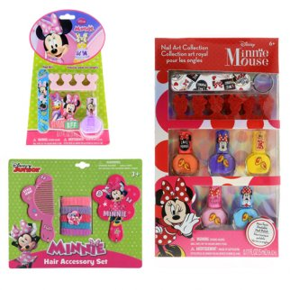 Disney Minnie Mouse Girls Dress Up Gift Set Nail Art 18pc
