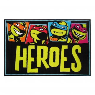 Fun Rugs Teenage Mutant Ninja Turtles TMNT Heroes Turtle Power Area Rug Small