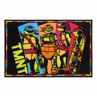 Fun Rugs Teenage Mutant Ninja Turtles TMNT Comic Style Area Rug Small