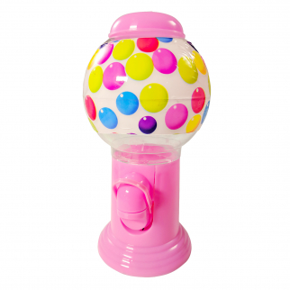 KidPlay Products Pink Gumball Gift Dispenser Machine 8 Inches