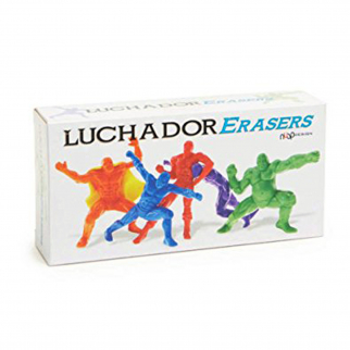 KidPlay Products Luchador Wrestling Character Erasers School Set