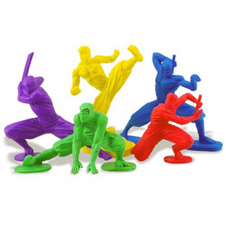 KidPlay Products Stealthy Ninja Mistake Assassins Character Erasers School Set
