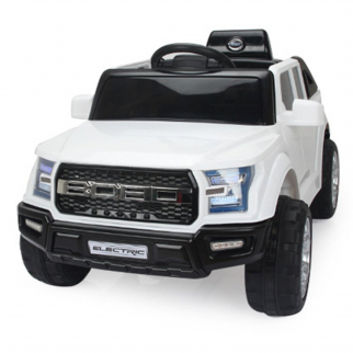 Off Roader 12V Kids Ride On Car - White