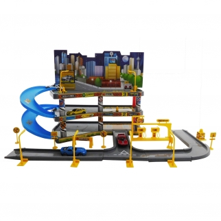 3 Levels Deluxe Parking Garage and Gas Station Kids Play set Cars Creativity Imagination