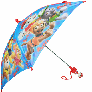 Nickelodeon Paw Patrol Kids Umbrella with Molded Handle 28 Inch Open Parasol