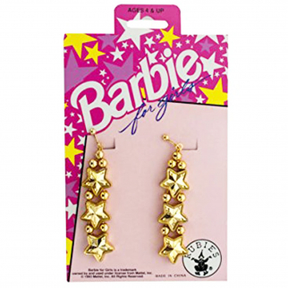 Barbie for Girls Gold Star Clip On Earrings