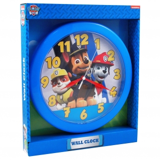 Nickelodeon Paw Patrol Analog Wall Clock featuring Chase, Marshall, Rubble 10 inch Children Home Decor