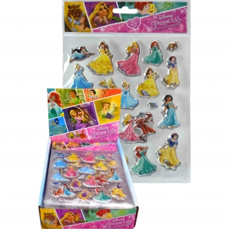 2pk Disney Princess Kids Puffy Stickers for Arts and Crafts 2 Sheets