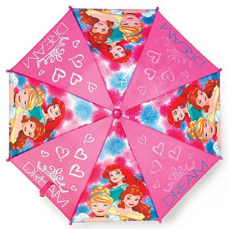 Disney Princess Girls Umbrella Outdoor Parasol Molded Handle with Carry Bag