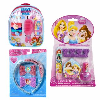 Princess Girls Dress Up Gift Set Headband Backpack Cosmetics 15pc