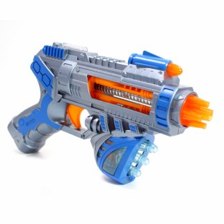 Kidplokio Superhero Galaxy Space Sonic Blaster Toy Gun Blue