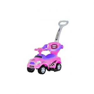 3 in 1 Ride On Push Car Stroller - pink